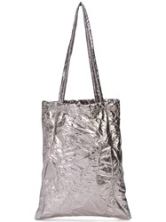 Sies Marjan Crinkle Effect Tote Bag Metallic