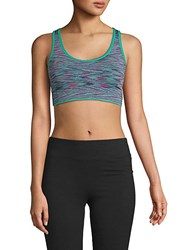 Marc New York Seamless Sports Bra Tropical Teal