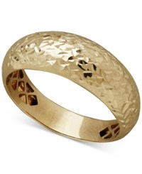 Honora Dome Band With Textured Detail In 14K Gold Yellow Gold