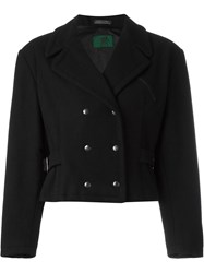 Jean Paul Gaultier Vintage Cropped Double Breasted Jacket Black