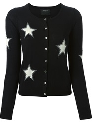 Markus Lupfer Sequin Star Cardigan Black