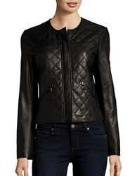 Karl Lagerfeld Leather Quilted Jacket Black