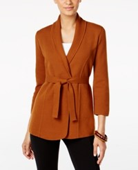 Alfani Belted Cardigan Only At Macy's Brushed Sienna