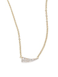 Kacey K Fine Jewelry Diamond And 14K Gold Wing Necklace Gold Silver