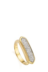Monica Vinader Diamond Baja Ring Gold