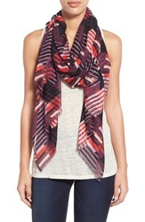 Women's Halogen 'Fractured Stripe' Modal And Silk Scarf