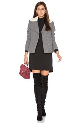 Baandsh Leonor Faux Sherpa Lined Coat Gray