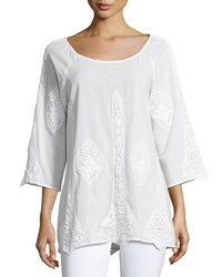 Xcvi Lace Inset Tunic White