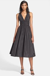 Women's Tracy Reese Shirred Satin Fit And Flare Dress