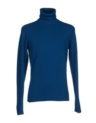 Zanone Knitwear Turtlenecks Men Azure