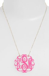 Women's Moon And Lola Large Oval Personalized Monogram Pendant Necklace Nordstrom Exclusive