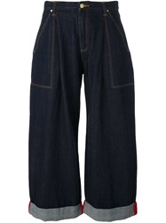 House Of Holland 'Hoh X Lee Collaboration' Oversized Jeans Blue