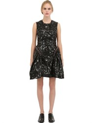 Simone Rocha Embroidered Faux Patent Leather Dress