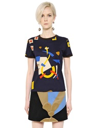J.W.Anderson Abstract Printed Cotton T Shirt Multi