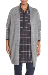 Carmakoma Embellished Long Cardigan Plus Size Grey