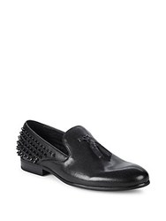 Saks Fifth Avenue Reginald Tassel Leather Loafers Black