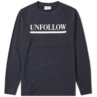 Wood Wood Long Sleeve Han Unfollow Tee Black