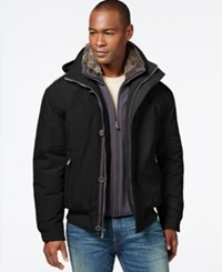 Weatherproof Bomber Jacket With Faux Fur Bib Black