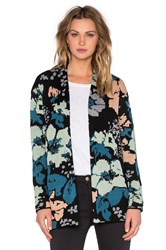 Obey Chloe Cardigan Blue