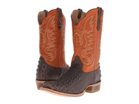 Old West Boots 60004 Brandy Hornback Caiman Print Adrian Cognac Cowboy Boots Brown