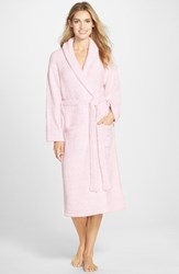 Women's Barefoot Dreams Cozychic Robe Heathered Petal White