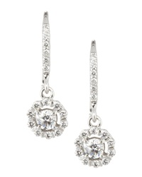 Brilliant By Kc Designs Flower Drop Earrings White Gold Red