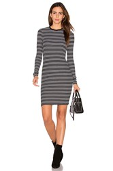 Atm Anthony Thomas Melillo Stripe Long Sleeve Dress Black And White