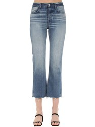 3X1 Austin Cropped Cotton Denim Jeans Blue