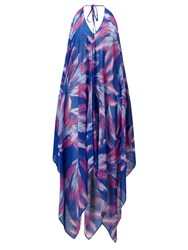 Coco Riko By Feather Handkerchief Dress Pink Purple