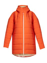 A.W.A.K.E. Oversized Quilted Padded Coat Orange