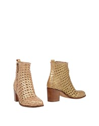 Francesco Morichetti Ankle Boots Gold