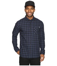 Rip Curl Checked Out Long Sleeve Woven Navy Men's Clothing