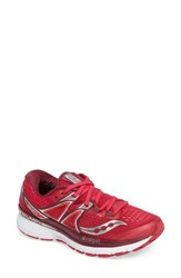 Saucony Women's Triumph Iso 3 Running Shoe Pink Berry Silver