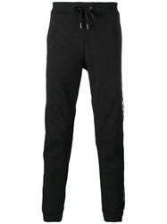 Versace Jeans Floral Side Track Trousers Black