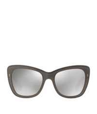 Dolce And Gabbana Butterfly Frame Logo Sunglasses Grey