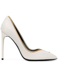 Tom Ford Zip Trim High Heel Pump Nude Neutrals