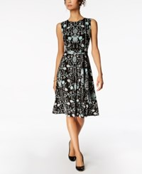 Charter Club Printed Fit And Flare Dress Created For Macy's Acadia Green