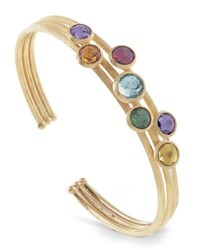 Marco Bicego Jaipur 18K Three Row Multi Stone Bangle