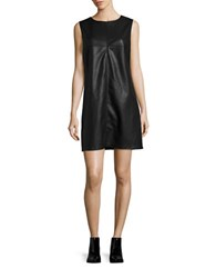 Bb Dakota Sleeveless Faux Leather Dress Black