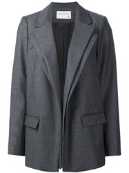 Maison Rabih Kayrouz Double Layer Blazer Blue