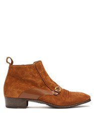 Gucci Moloch Suede Ankle Boots Brown