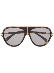 Balmain Bl 2104 Aviator Sunglasses Brown