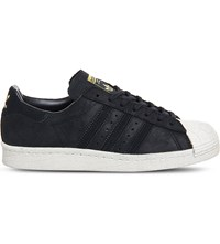 Adidas Superstar 80S Suede Trainers Core Black Off White