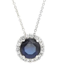 Lord And Taylor Cubic Zirconia Sterling Silver Circle Pendant Necklace