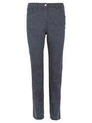 Viyella Straight Leg Smart Jeans Grey