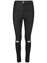 Urban Bliss Stretchy And Skinny Ripped Disco Jean Black