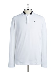 Victorinox Long Sleeved Polo Classic White