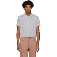 Paul Smith Ps By Grey Zebra Slim Polo
