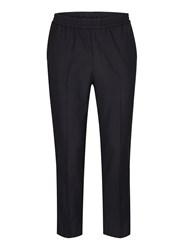 Topman Blue Navy Side Piping Cropped Smart Joggers