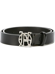 Jean Paul Gaultier Vintage Logo Buckle Belt Black